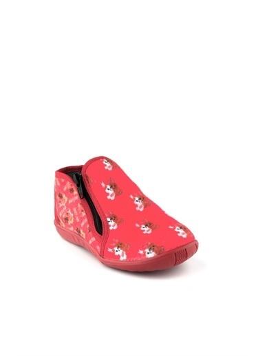 Cicibebe Kız Çocuk Ev Ayakkabısı Kırmızı